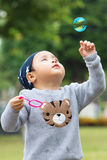 Baby boy playing bubble Royalty Free Stock Photo