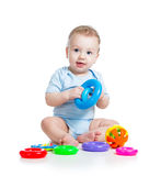 Baby boy playing Royalty Free Stock Photos