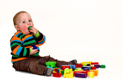 Baby boy playing Royalty Free Stock Images