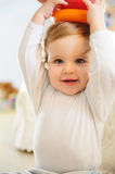 Baby boy playing indoors Stock Photography