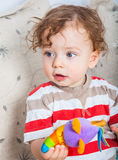 Baby boy playing Royalty Free Stock Photo