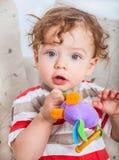 Baby boy playing Stock Photo