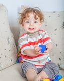 Baby boy playing Royalty Free Stock Image