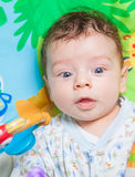 Baby boy on playmat Royalty Free Stock Photography