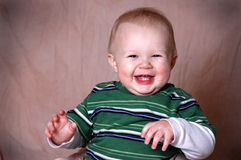 Baby Boy Portrait. A charming portrait of a baby boy. He is 1 year old in this series stock image