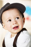Baby boy portrait with cap. Royalty Free Stock Photography