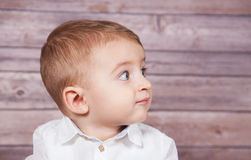 Baby boy portrait Stock Photos