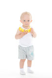 Baby boy with protective glasses. Stock Photos