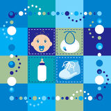 Baby Boy Quilt Stock Image