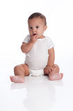 Baby Boy with a Quizzical, Contemplative Expression Royalty Free Stock Images