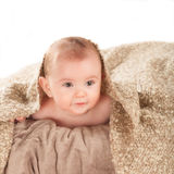 Baby on the blanket Stock Photo