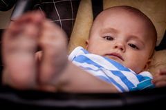 Baby boy relaxing Royalty Free Stock Image