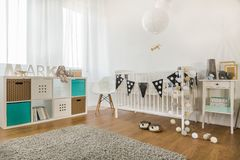 Baby boy room royalty free stock photo