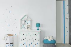 Baby boy room in scandinavian style Stock Image