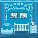 Baby boy room. Vector Illustration royalty free illustration