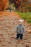 Baby boy run away Stock Image