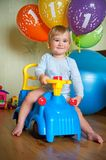 Baby boy's 1 year birthday. Royalty Free Stock Images