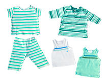 Baby boy's clothes isolated Royalty Free Stock Photography