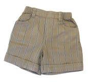 Baby boy's shorts. Isolated on white background Royalty Free Stock Images