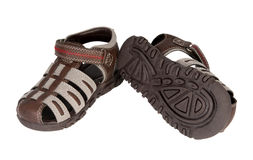 Baby boy's summer shoes Royalty Free Stock Images