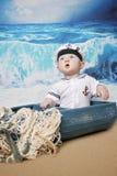 Baby boy sailor Stock Photo