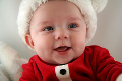 Baby Boy in Santa Claus Outfit Royalty Free Stock Photo