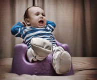 Baby boy screaming Royalty Free Stock Photo