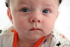 Baby Boy with Serious Face Royalty Free Stock Images