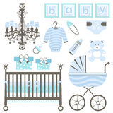 Baby boy set Stock Photography