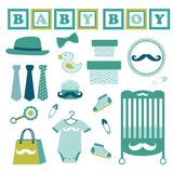 Baby boy set Stock Image