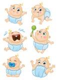 Baby boy set Royalty Free Stock Image