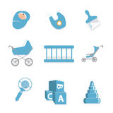 Baby boy set icon Stock Image