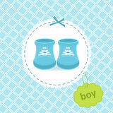 Baby boy shoes Royalty Free Stock Images