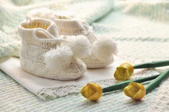 Baby boy shoes Stock Photos