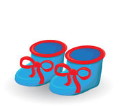 Baby boy shoes Royalty Free Stock Photo