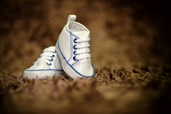 baby boy shoes Royalty Free Stock Photography
