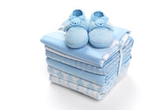 Free Baby Boy Shoes On Blankets Royalty Free Stock Images - 31231689