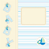 Baby boy shower Royalty Free Stock Image