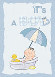 Baby boy shower announcement Royalty Free Stock Photo