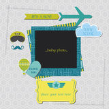 Baby Boy Shower or Arrival Card Royalty Free Stock Images