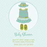 Baby Boy Shower and Arrival Card Royalty Free Stock Images