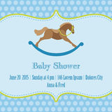 Baby Boy Shower Card. Baby Boy Shower and Arrival Card - with place for your text in Royalty Free Stock Photos