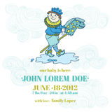 Baby Boy Shower and Arrival Card. With place for your text in royalty free illustration
