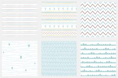 Baby boy shower blue collection Hand drawn seamless pattern set Blue simple textured background Vector collection. Baby boy shower blue collection Hand drawn stock illustration