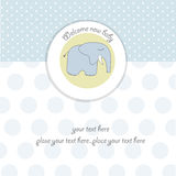 Baby boy shower card royalty free illustration