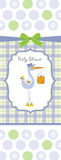 Baby Boy Shower Card Royalty Free Stock Image