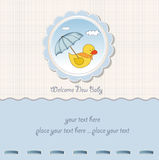Baby boy  shower card Stock Photography