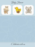Baby boy shower card Stock Photo