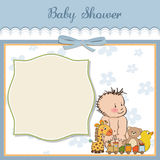 Baby boy shower card Royalty Free Stock Photography