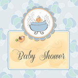 Baby boy shower card. New baby boy shower card Stock Photos